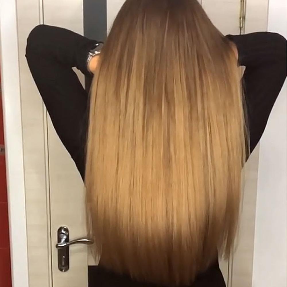 Нано капсульное холодное наращивание волос. Испанская технология. Капсулы скрытого крепления